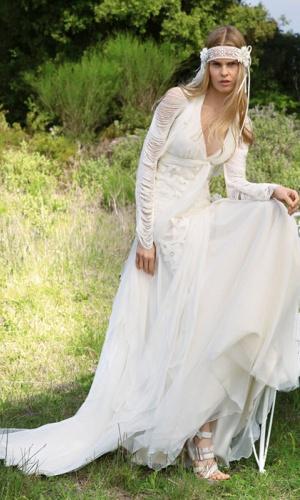 Robe de mariee boheme d'occasion
